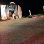 FGJT realiza peritajes en Libramiento Reynosa, donde perdieron la vida 8 personas